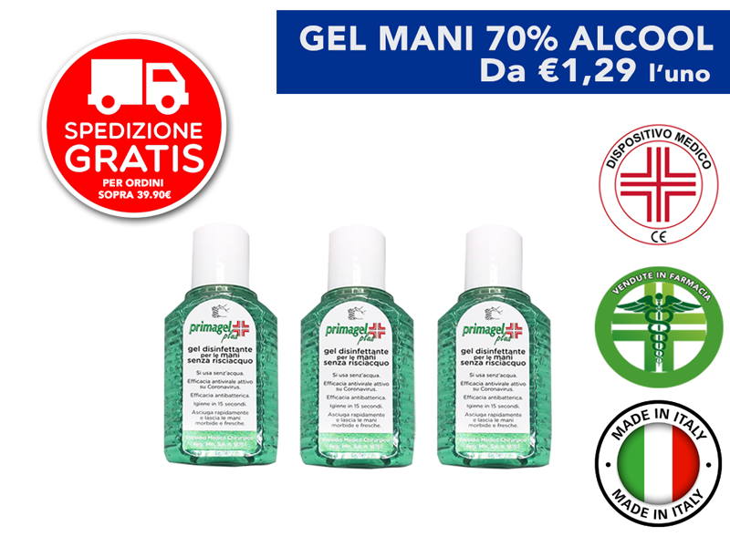Primagel Plus Disinfettante Mani 50 ml scontato